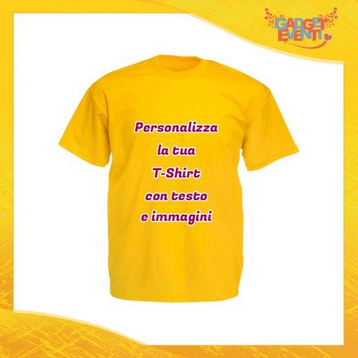 T-Shirt Uomo Maglietta Giallo Sunflower Personalizzata con Nome Foto Immagini Testo o Frasi Gadget Eventi
