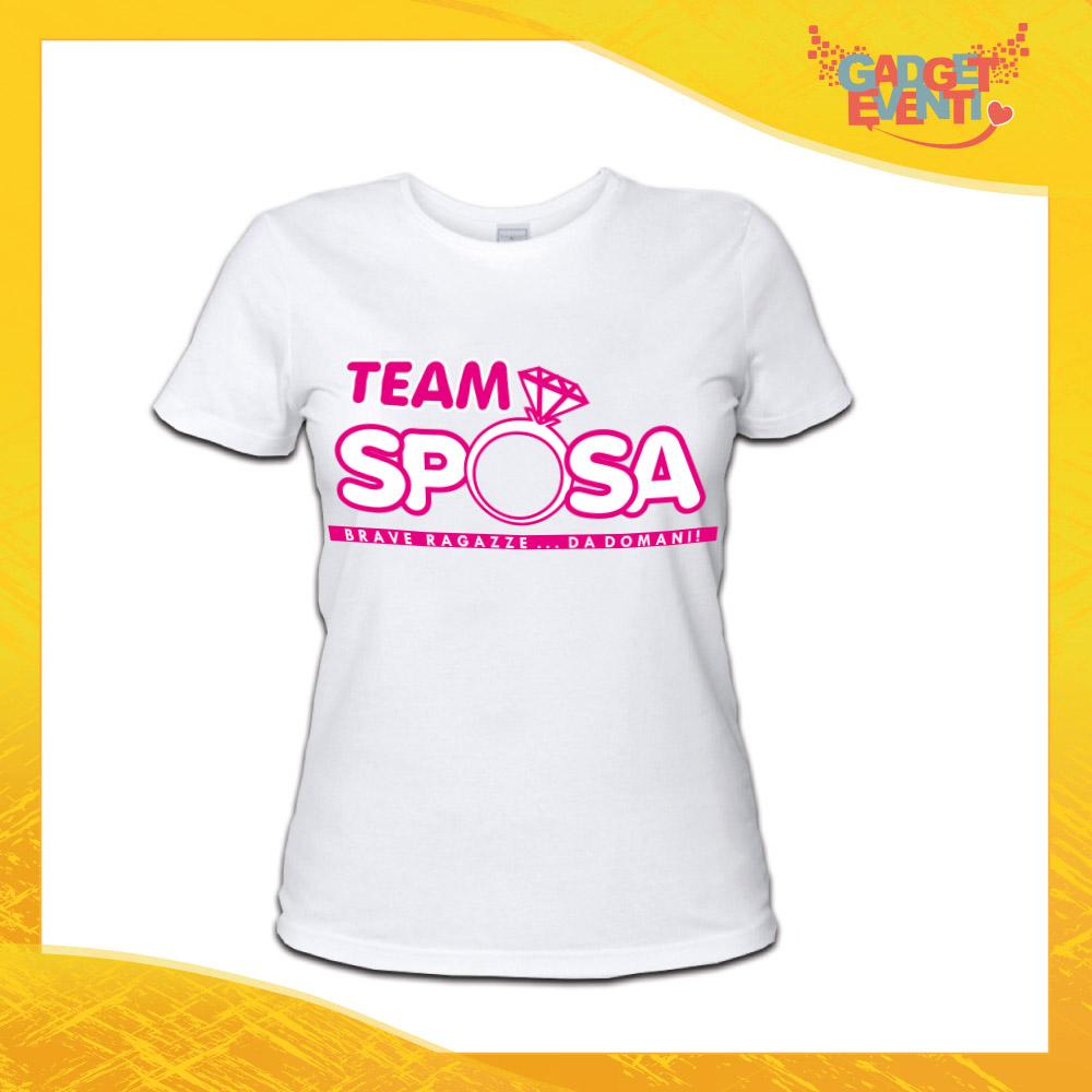 """T-Shirt Addio al Nubilato Donna Maglietta """"Brave Ragazze da Domani Anello"""" Gadget Eventi"""