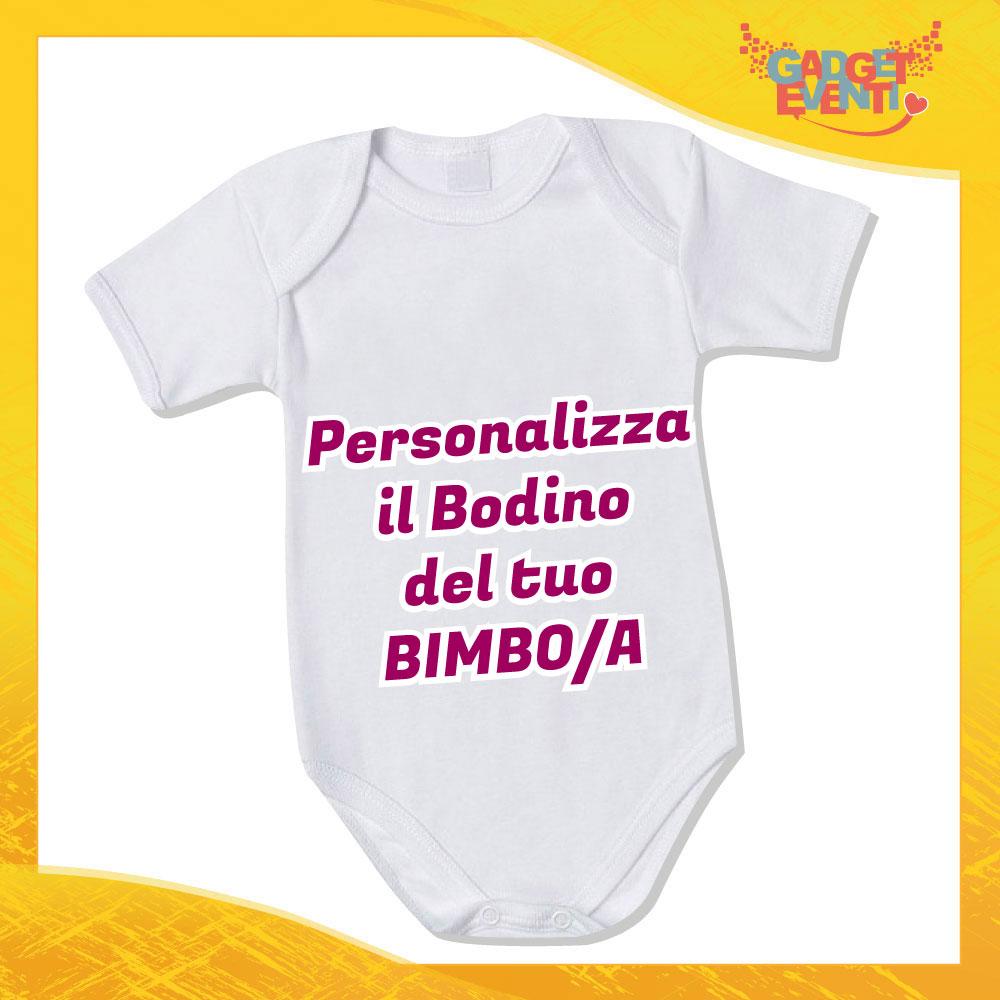 Body Personalizzato con foto testi frasi e immagini Neonato Bodino Bimbo Gadget Eventi