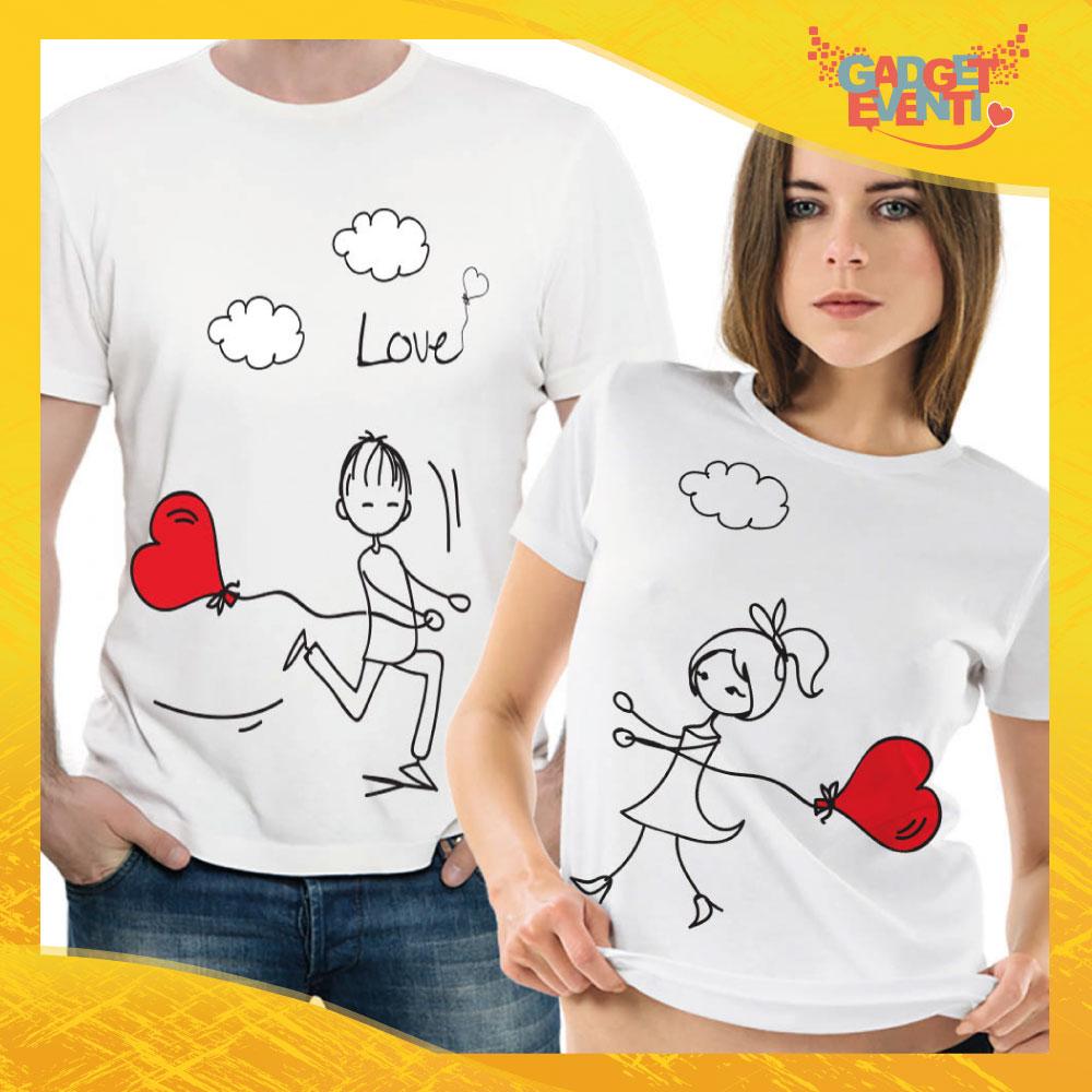 """T-Shirt Coppia Maglietta """"Palloncino Love"""" Gadget Eventi"""
