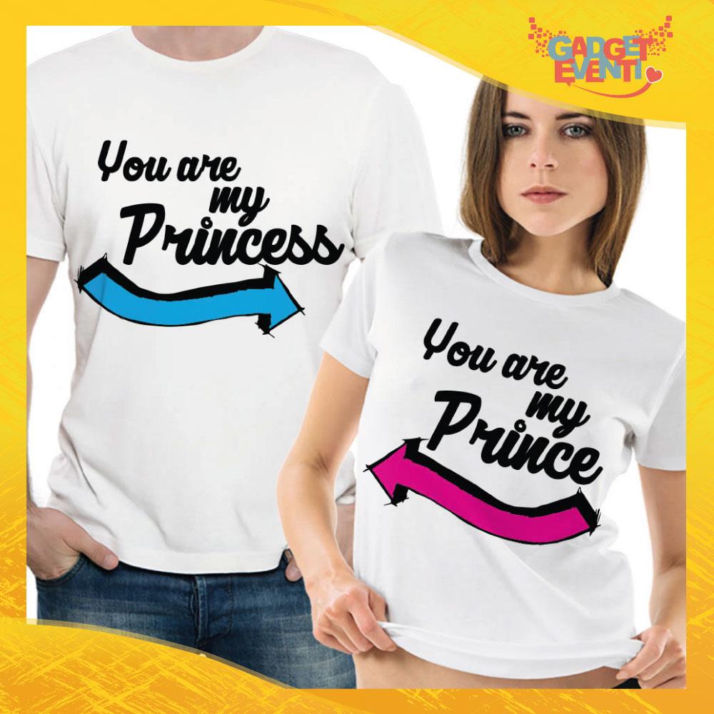 """T-Shirt Coppia Maglietta """"You are my Princess Freccia"""" Gadget Eventi"""