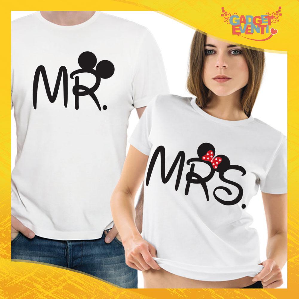 "T-Shirt Coppia Maglietta ""Mr and Mrs Disney"" Gadget Eventi"