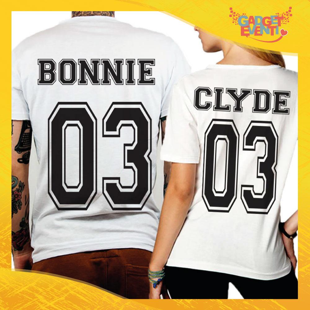"""T-Shirt Coppia Retro Maglietta """"Bonnie and Clyde"""" Gadget Eventi"""