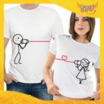 """T-Shirt Coppia Maglietta """"Comunicazione Love"""" Gadget Eventi"""