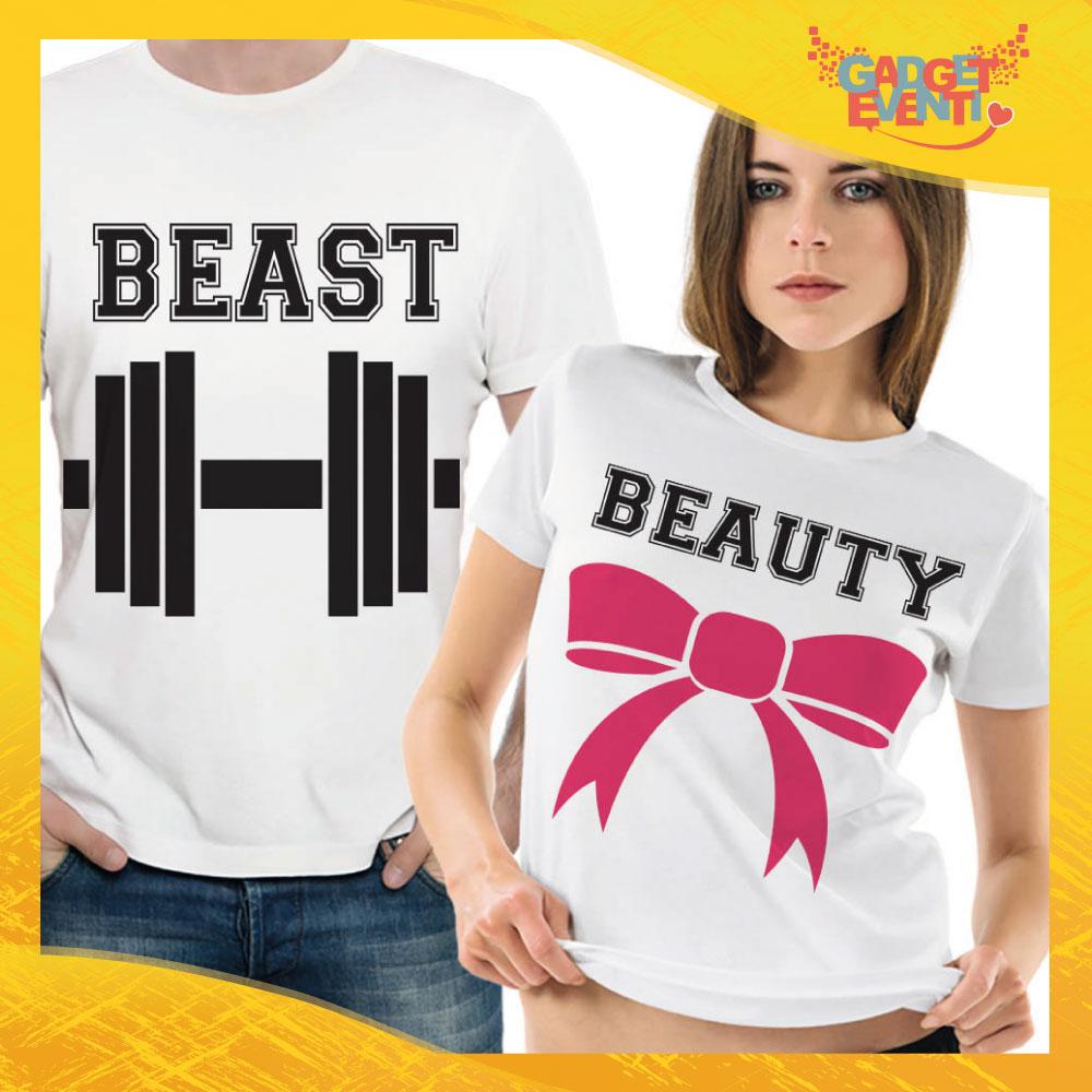 "T-Shirt Coppia Maglietta ""Beast and Beauty"" Gadget Eventi"