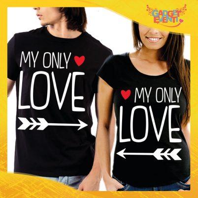 """T-Shirt Coppia Maglietta """"My only Love Freccia"""" Gadget Eventi"""