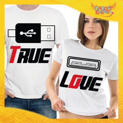 "T-Shirt Coppia Maglietta ""True Love"" Gadget Eventi"