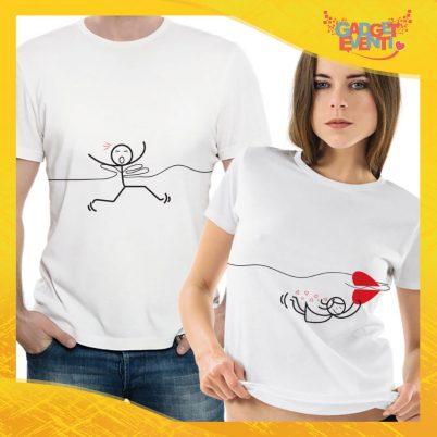 """T-Shirt Coppia Maglietta """"Amore vola via"""" Gadget Eventi"""