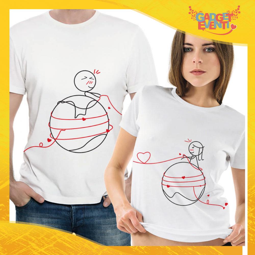 """T-Shirt Coppia Maglietta """"Gomitolo d'Amore"""" Gadget Eventi"""