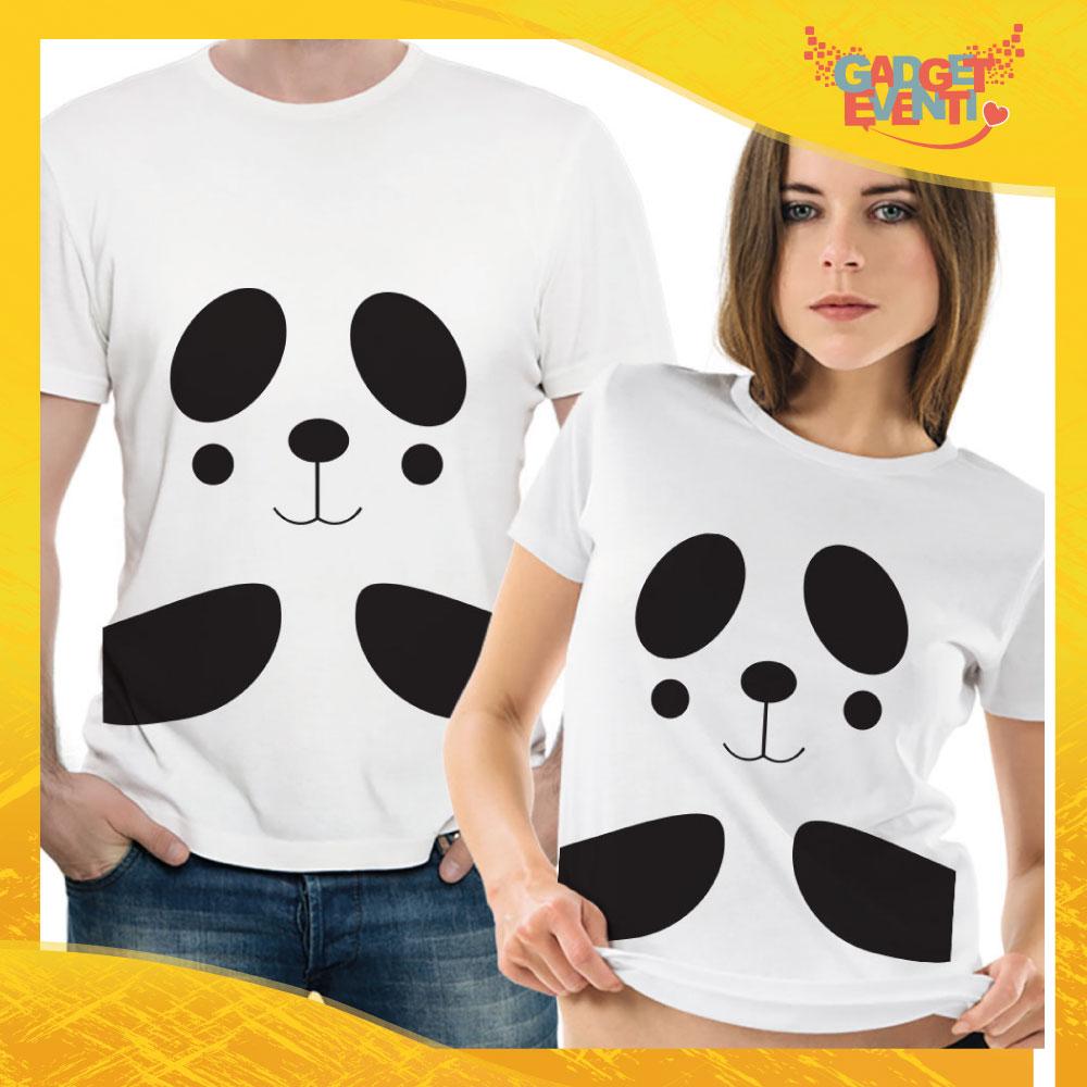 """T-Shirt Coppia Maglietta """"Panda Innamorato"""" Gadget Eventi"""