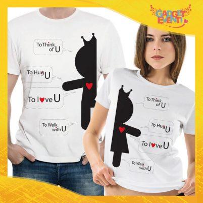 """T-Shirt Coppia Maglietta """"Vignette d'Amore"""" Gadget Eventi"""