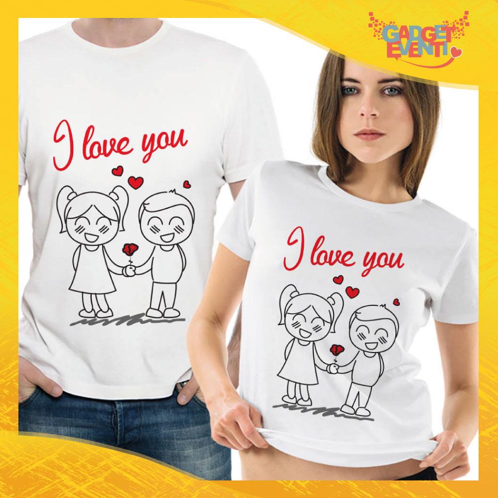 "T-Shirt Coppia Maglietta ""I Love You"" Gadget Eventi"