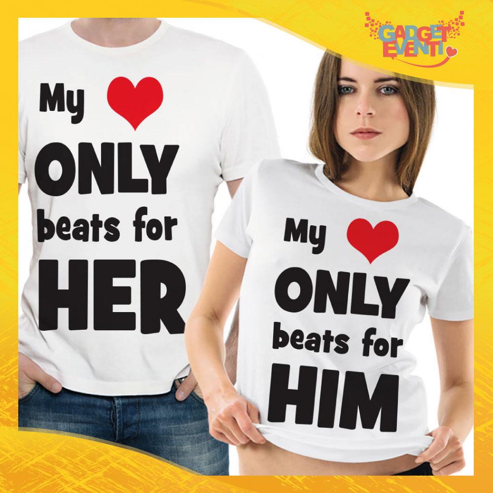 "T-Shirt Coppia Maglietta ""My only Beats"" Gadget Eventi"