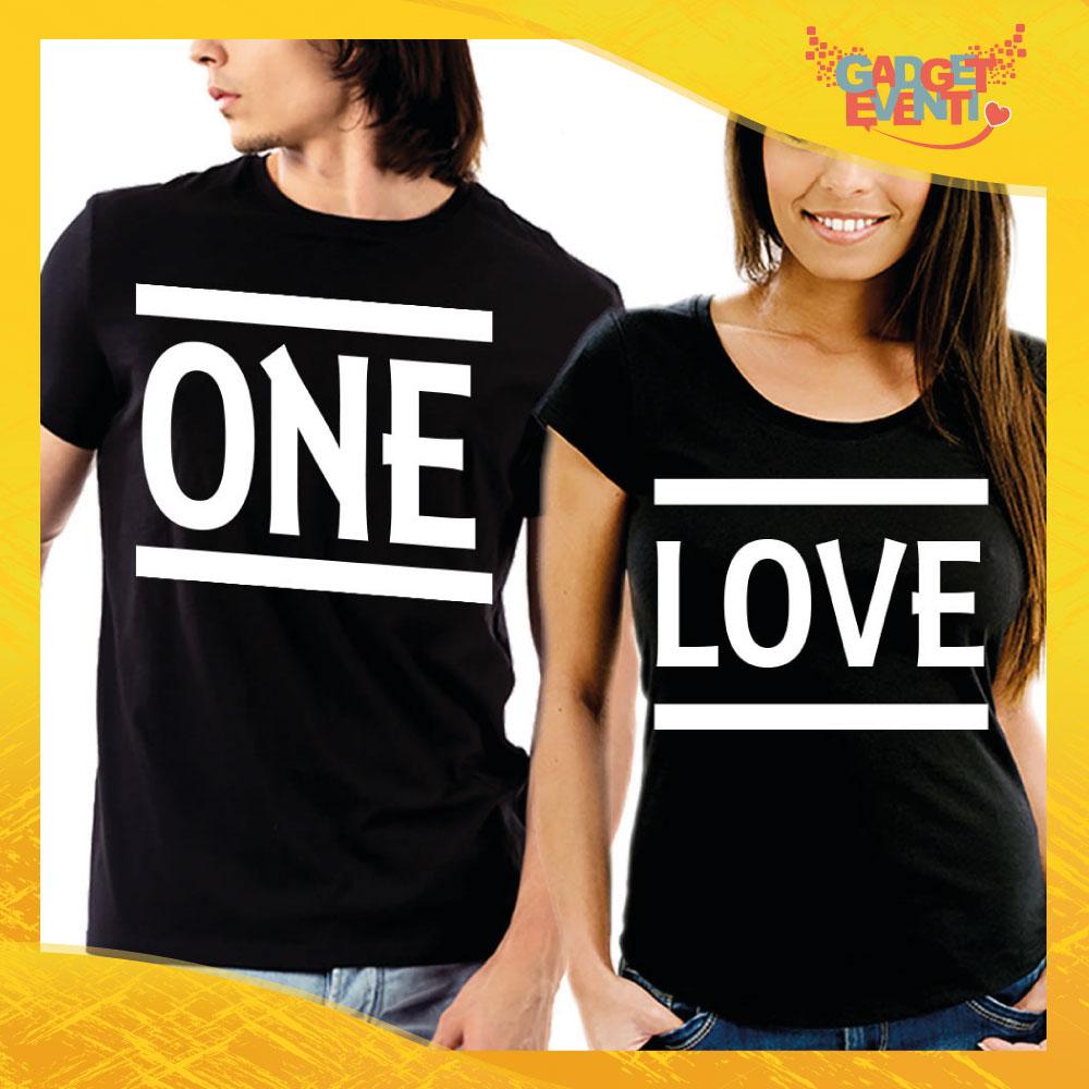 """T-Shirt Coppia Maglietta """"One Love"""" Gadget Eventi"""