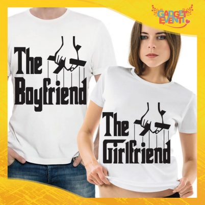 "T-Shirt Coppia Maglietta ""Boyfriend and Girlfriend"" Gadget Eventi"