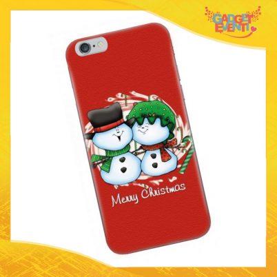 "Cover Smartphone Natale Cellulare Tablet ""Pupazzi di neve"" Gadget Eventi"