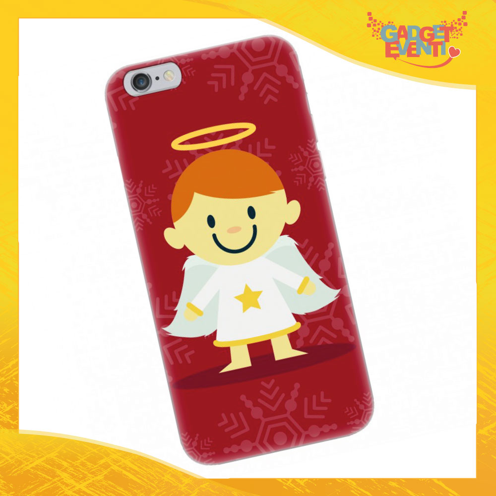 """Cover Smartphone Natale Cellulare Tablet """"Angelo"""" Gadget Eventi"""