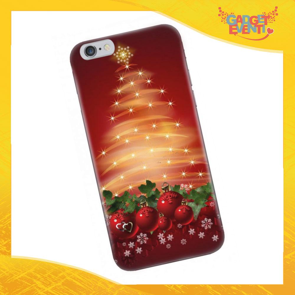 """Cover Smartphone Natale Cellulare Tablet """"Albero con Addobbo"""" Gadget Eventi"""