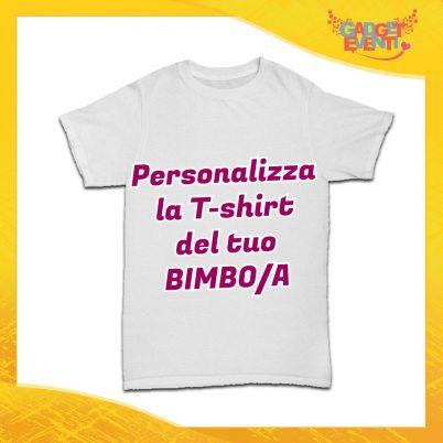 T-Shirt Bimbo Personalizzabile Maglietta Bambino Gadget Eventi