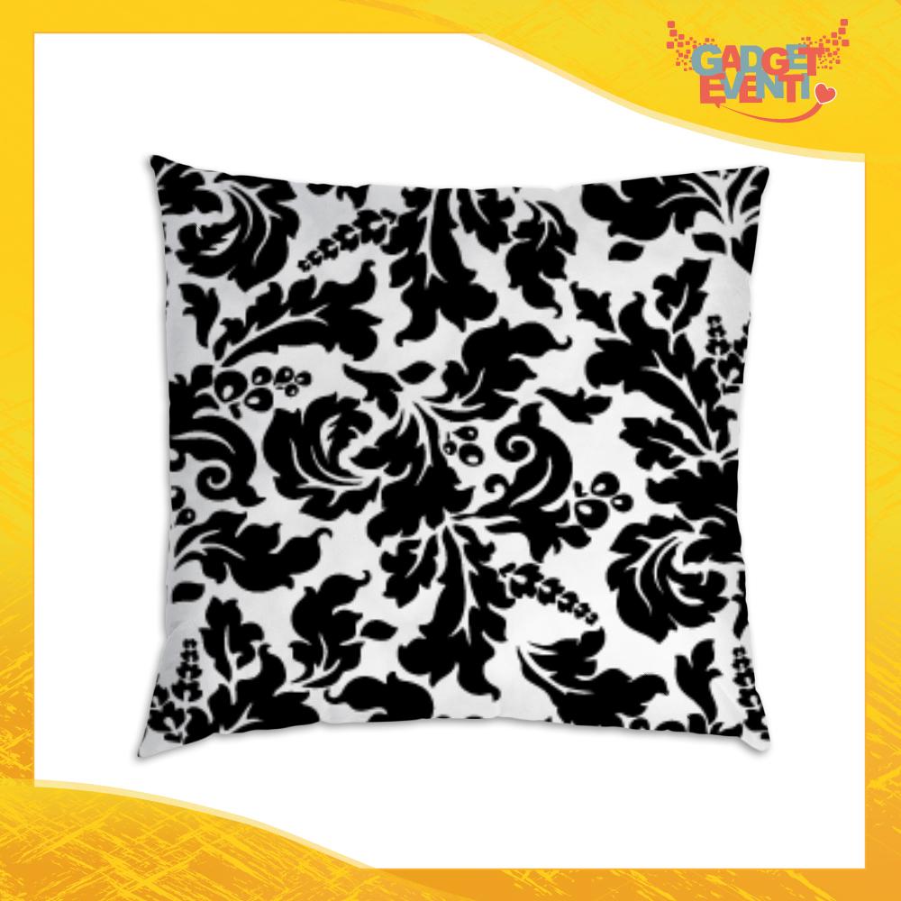 Cuscini Divano Bianco E Nero.Cuscino Quadrato Divano Letto Poltrona Personalizzato Fiori