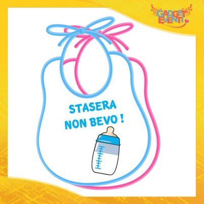 """Bavetto Bavaglino Bimbo Maschietto """"Stasera non Bevo"""" Gadget Eventi"""
