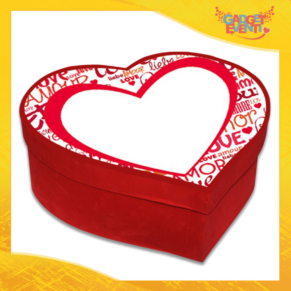 """Scatola a Cuore Rosso San Valentino Love """"Big Heart"""" Gadget Eventi"""