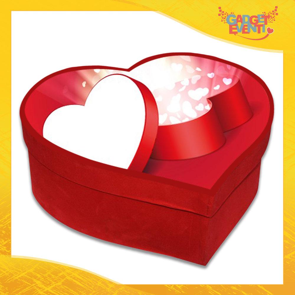 """Scatola a Cuore Rosso San Valentino Love """"Heart Box"""" Gadget Eventi"""