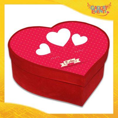 """Scatola a Cuore Rosso San Valentino Love """"Hearts ti amo"""" Gadget Eventi"""