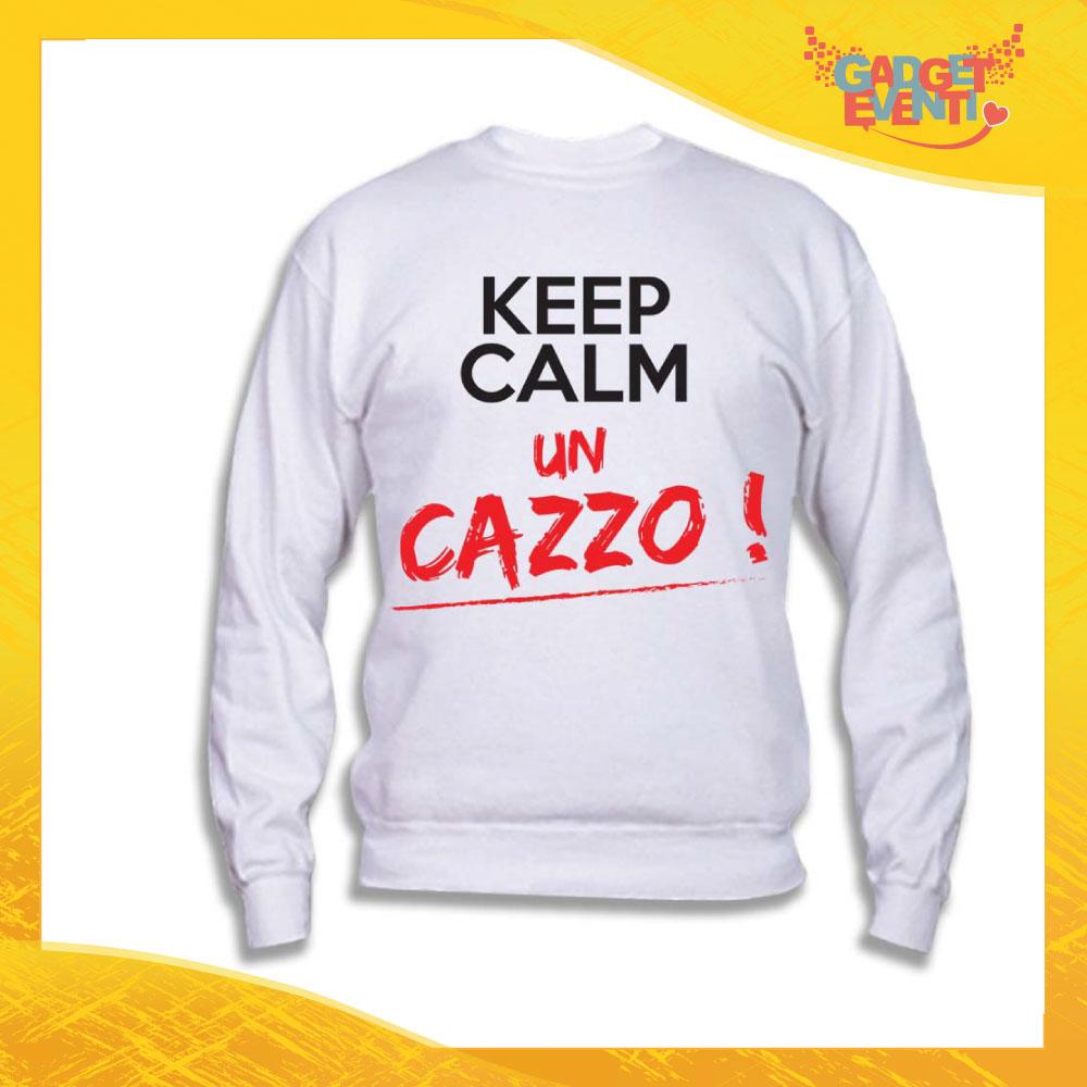 """Felpa Unisex Adulto """"Keep Calm un cazzo"""" Gadget Eventi"""