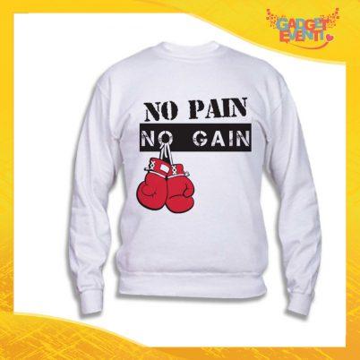 "Felpa Unisex Adulto ""No pain no gain"" Gadget Eventi"