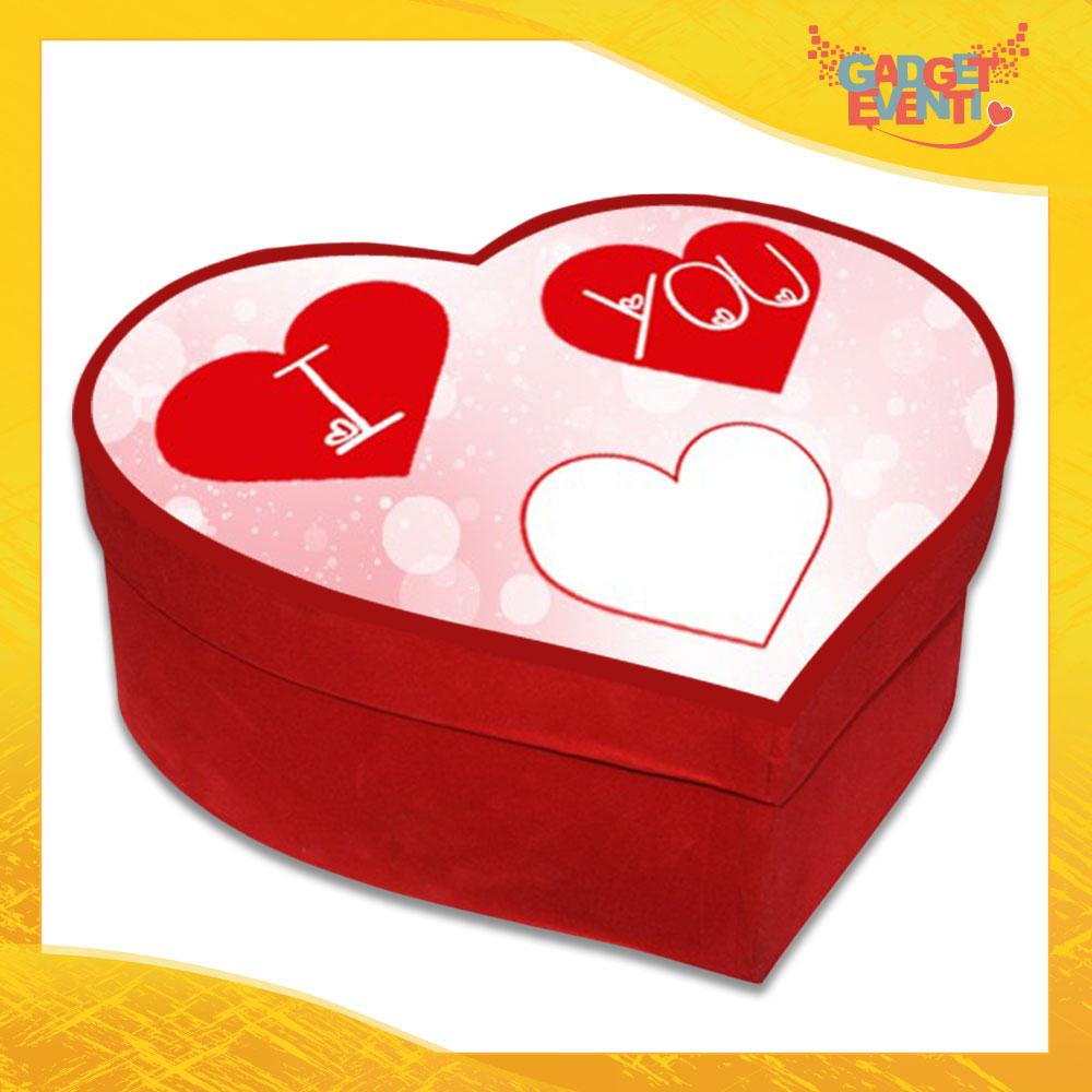 """Scatola a Cuore Rosso San Valentino Love """"Heart Love You"""" Gadget Eventi"""