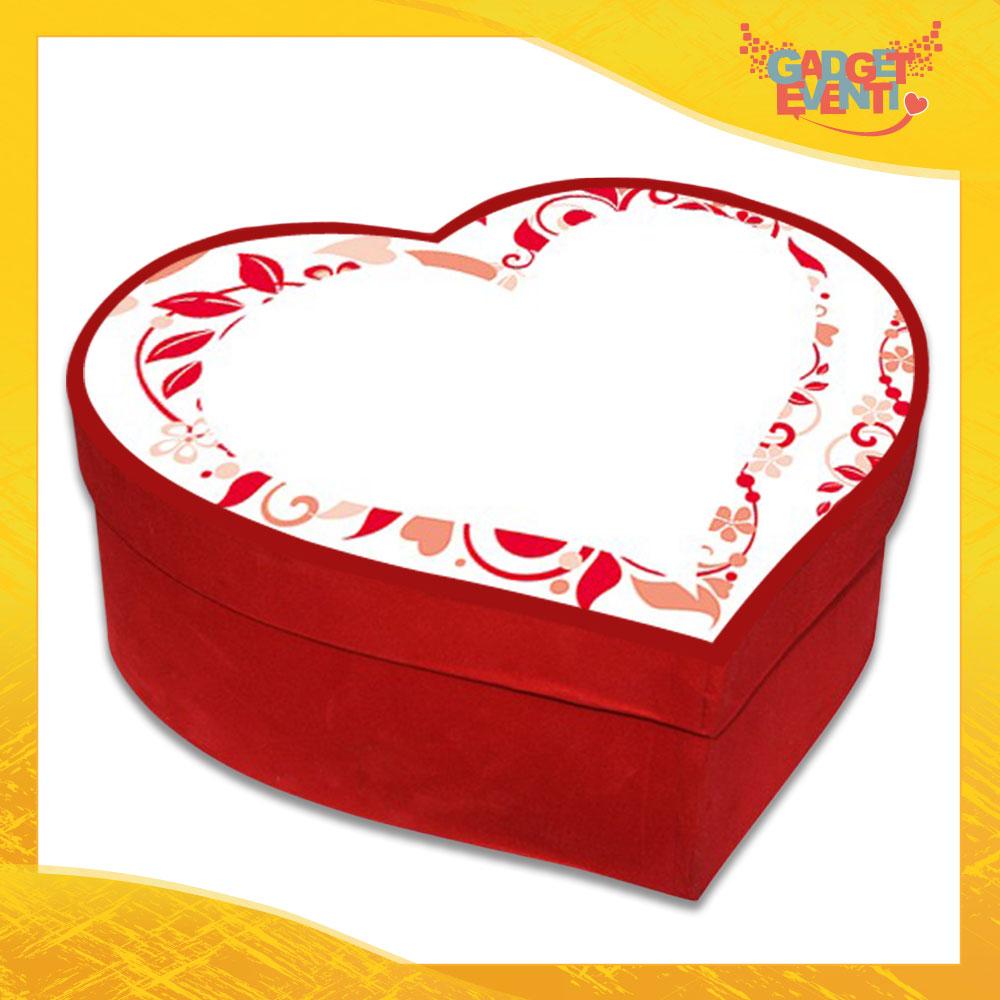 """Scatola a Cuore Rosso San Valentino Love """"Big white heart"""" Gadget Eventi"""
