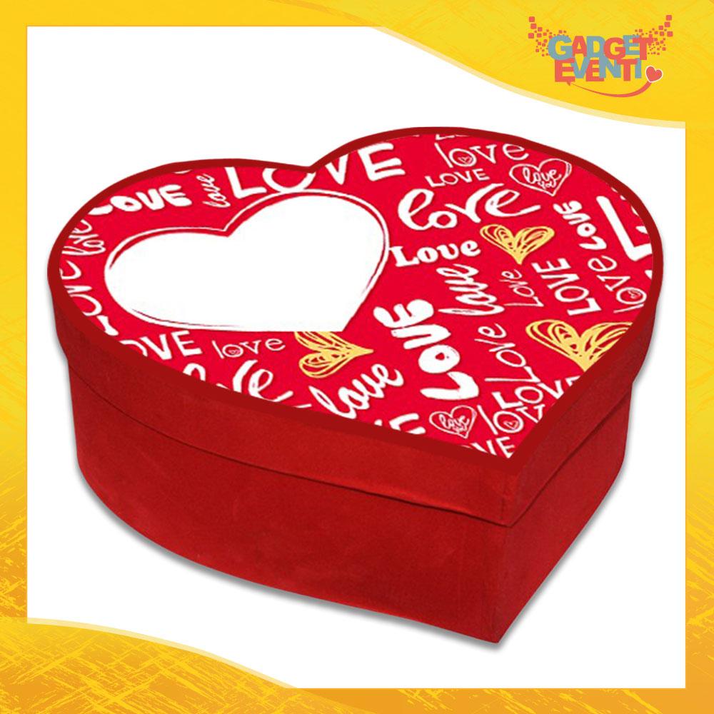 """Scatola a Cuore Rosso San Valentino Love """"Amore Passionale"""" Gadget Eventi"""