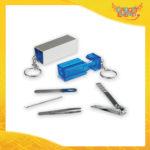 """Portachiavi Aziendale Blu Set Manicure """"Mild"""" Gadget Eventi"""
