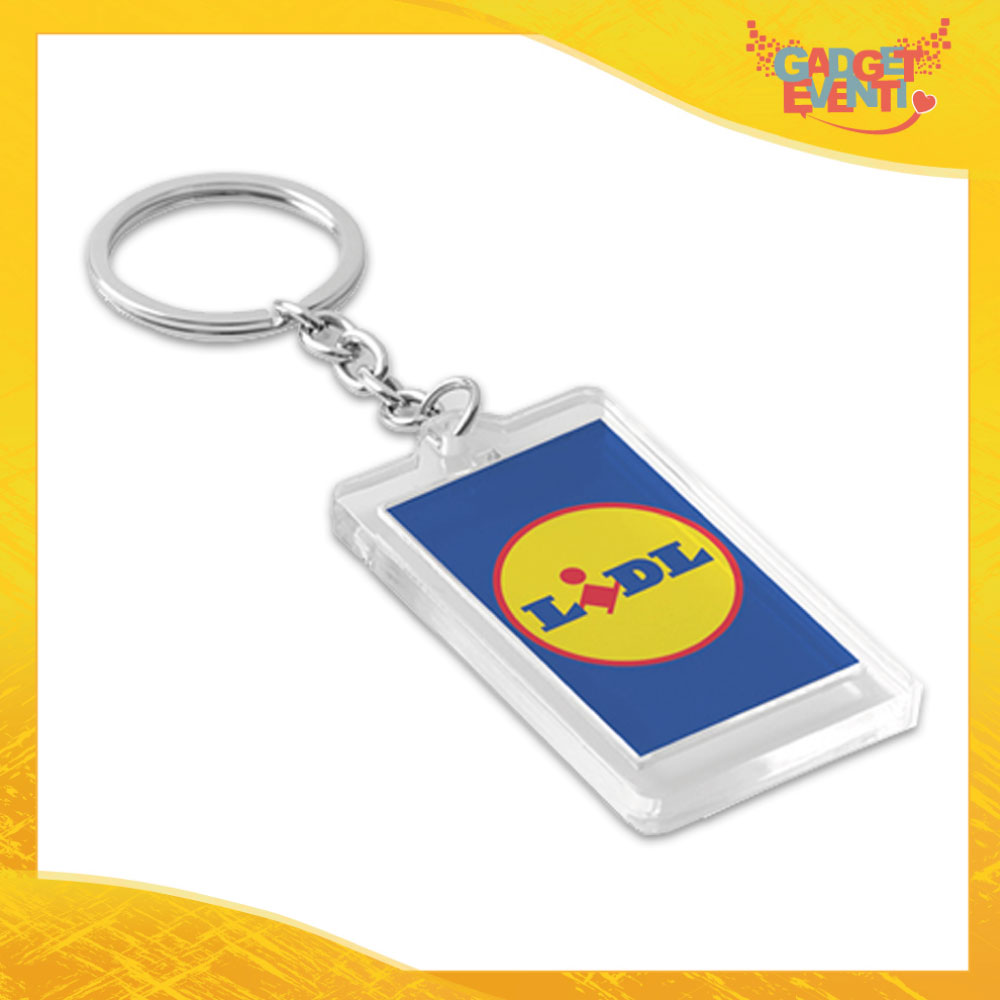 """Portachiavi ad anello """"Label"""" con logo personalizzato Gadget Eventi"""