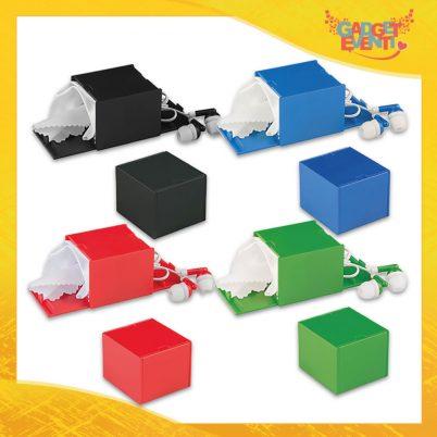"""Auricolari Colorati """"Hi Cube"""" panno pulizia schermo smartphone base appoggio Gadget Eventi"""