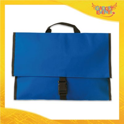 "Borsa Business Porta Documenti Blu Royal per Ufficio ""Institute"" Gadget Eventi"