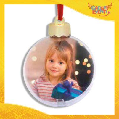 """Appendino Natale Addobbo Natalizio con foto personalizzabile """"Palla di Natale"""" Gadget Eventi"""