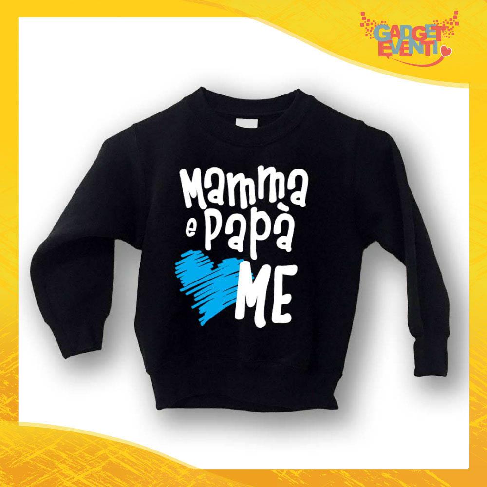 """Felpa Bambino Baby """"Mamma e Papà Loves Me"""" Gadget Eventi"""