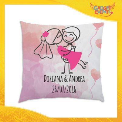"""Cuscino Quadrato Divano Letto Poltrona """"Sposa in Braccio"""" Gadget Eventi"""
