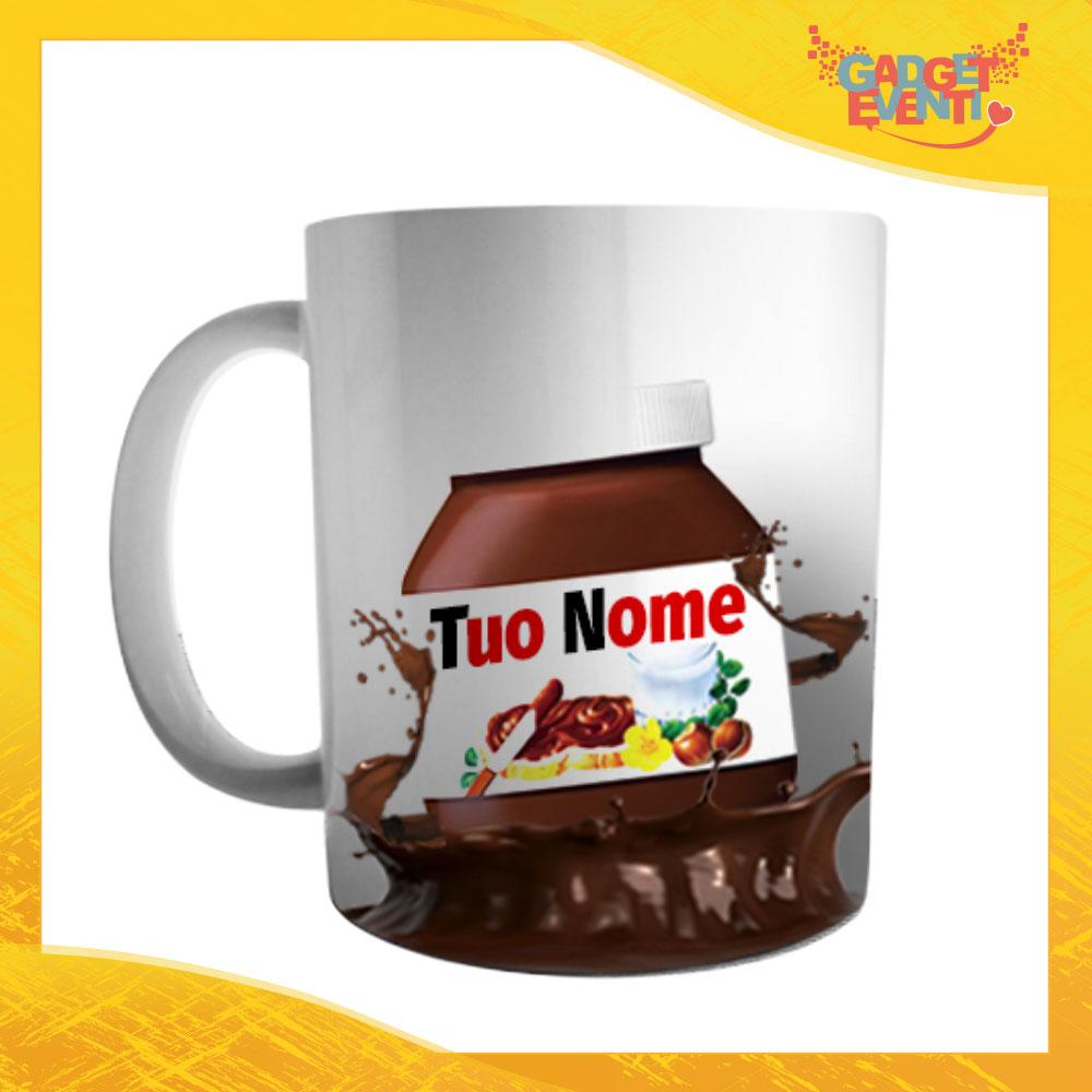"""Tazza Colazione Breakfast """"Cioccolato con Nome Personalizzato"""" Gadget Eventi"""