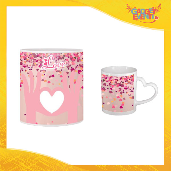 "Tazza dell'Amore ""Heart in Hands"" San Valentino Gadget Eventi"