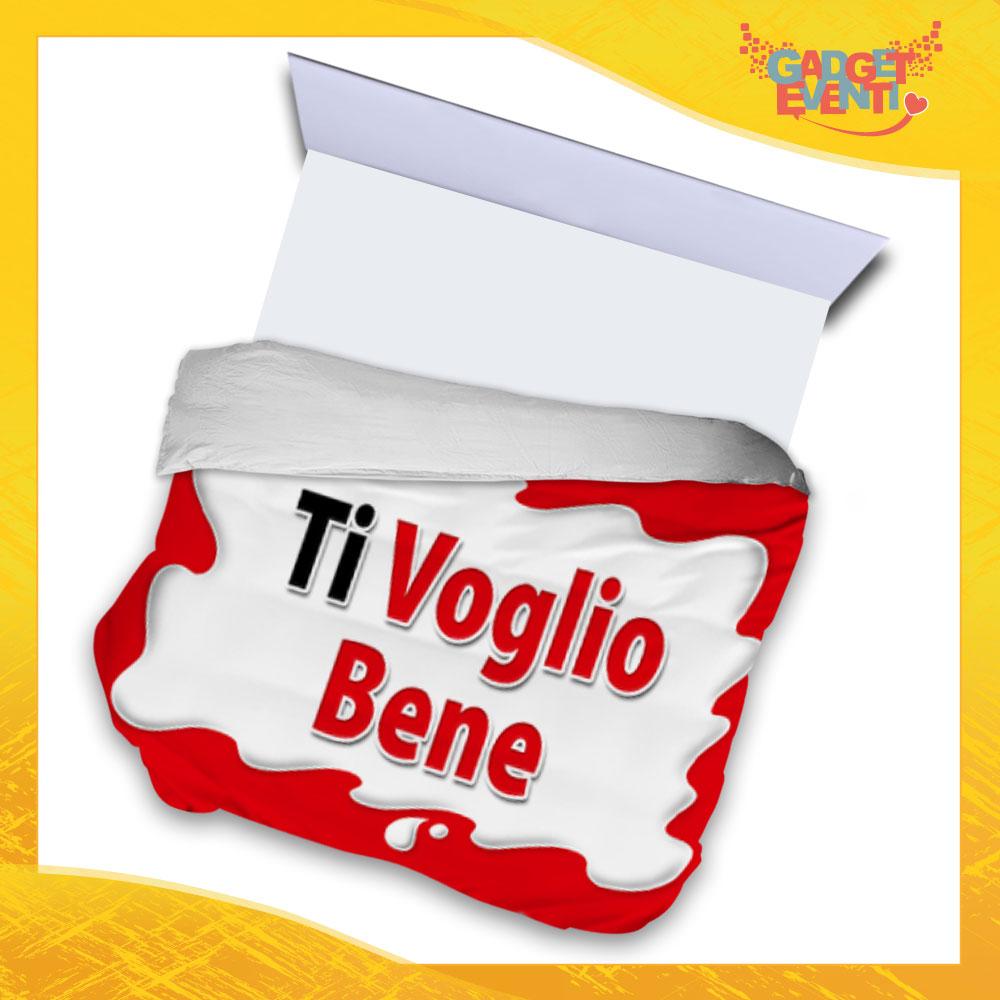 """Copripiumino Matrimoniale Biancheria da Letto """"Ti Voglio Bene Bar"""" Gadget Eventi"""