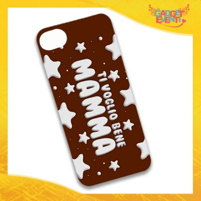 """Cover Smartphone Marrone Cellulare Tablet """"Ti Voglio Bene Mamma Stelline"""" Festa della Mamma Gadget Eventi"""