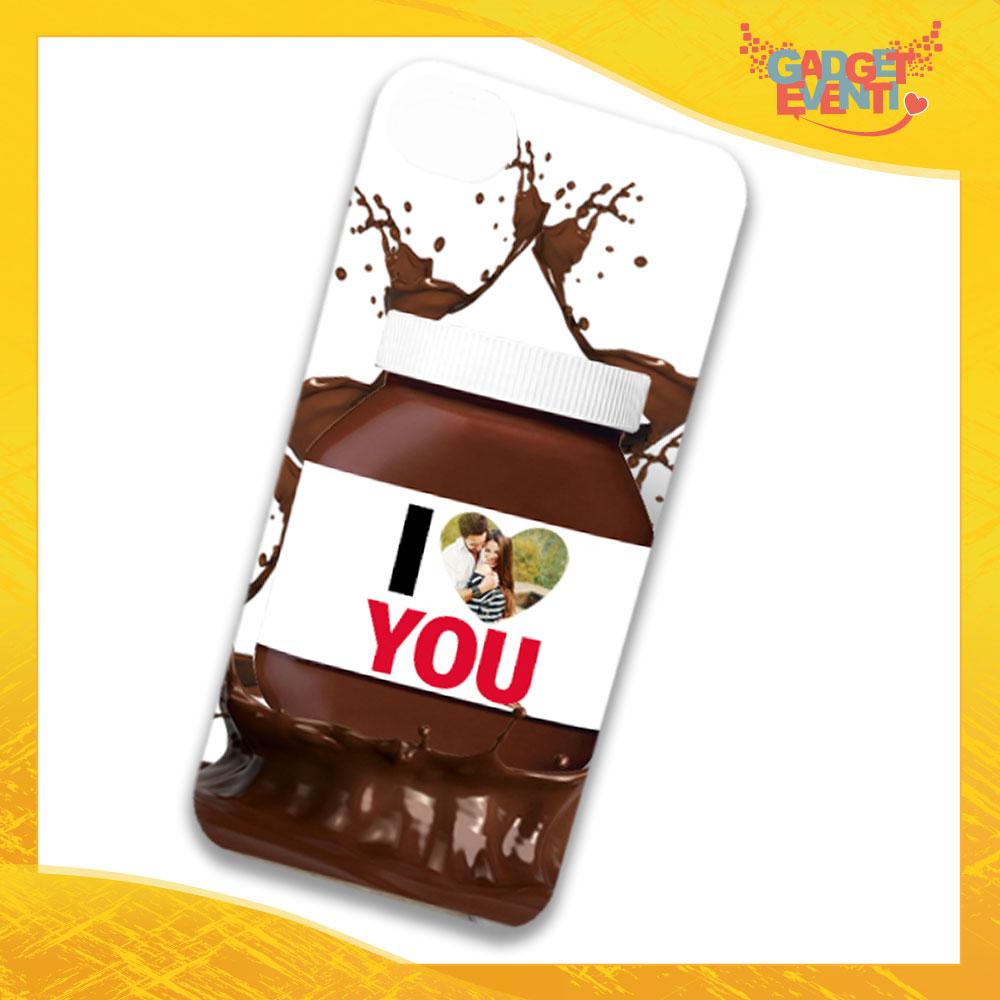 """Cover Smartphone Cellulare Tablet """"I Love You con Foto Cioccolato"""" San Valentino Gadget Eventi"""