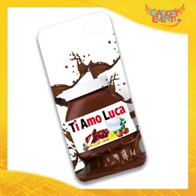"""Cover Smartphone Cellulare Tablet """"Ti Amo con Nome Personalizzato Cioccolato"""" San Valentino Gadget Eventi"""