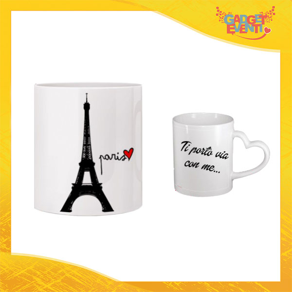 "Tazza dell'Amore ""Love in Paris"" San Valentino Gadget Eventi"
