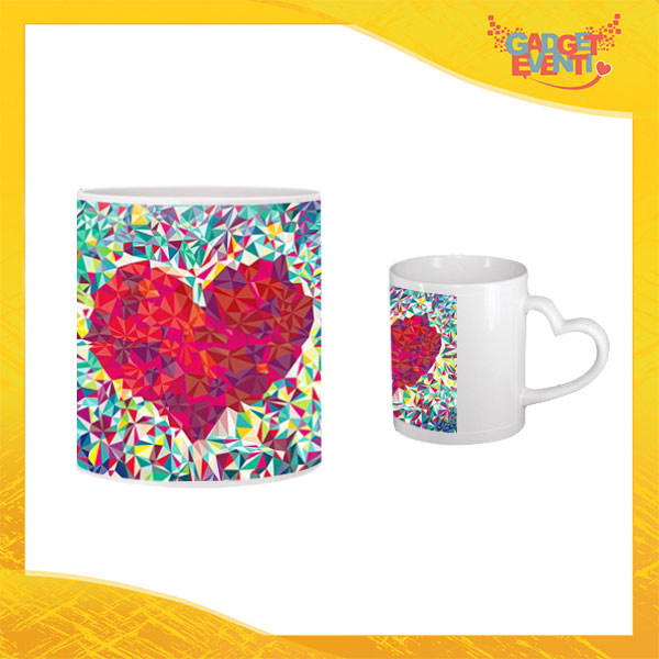 "Tazza dell'Amore ""Colorful Heart"" San Valentino Gadget Eventi"