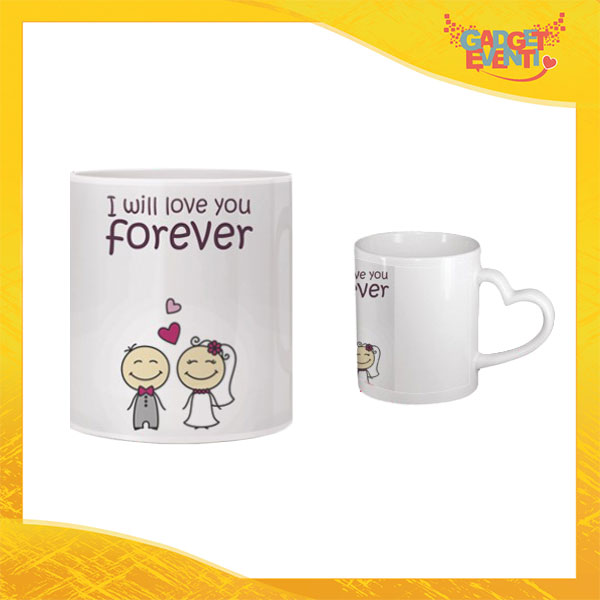 "Tazza dell'Amore ""Forever Love You"" San Valentino Gadget Eventi"