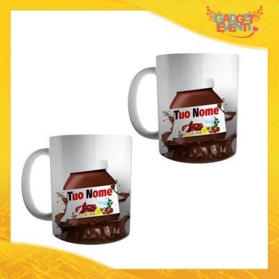 """Coppia di Tazze Colazione Breakfast """"Cioccolato con Nome Personalizzato"""" Gadget Eventi"""